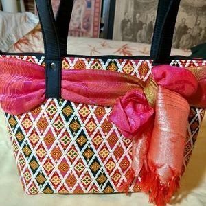 Fashion shoulder bag multicolored
